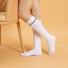 Striped Knee High Socks
