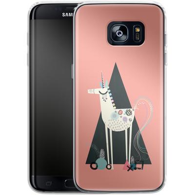 Samsung Galaxy S7 Edge Silikon Handyhuelle - Unicorn Triangle von Victoria Topping