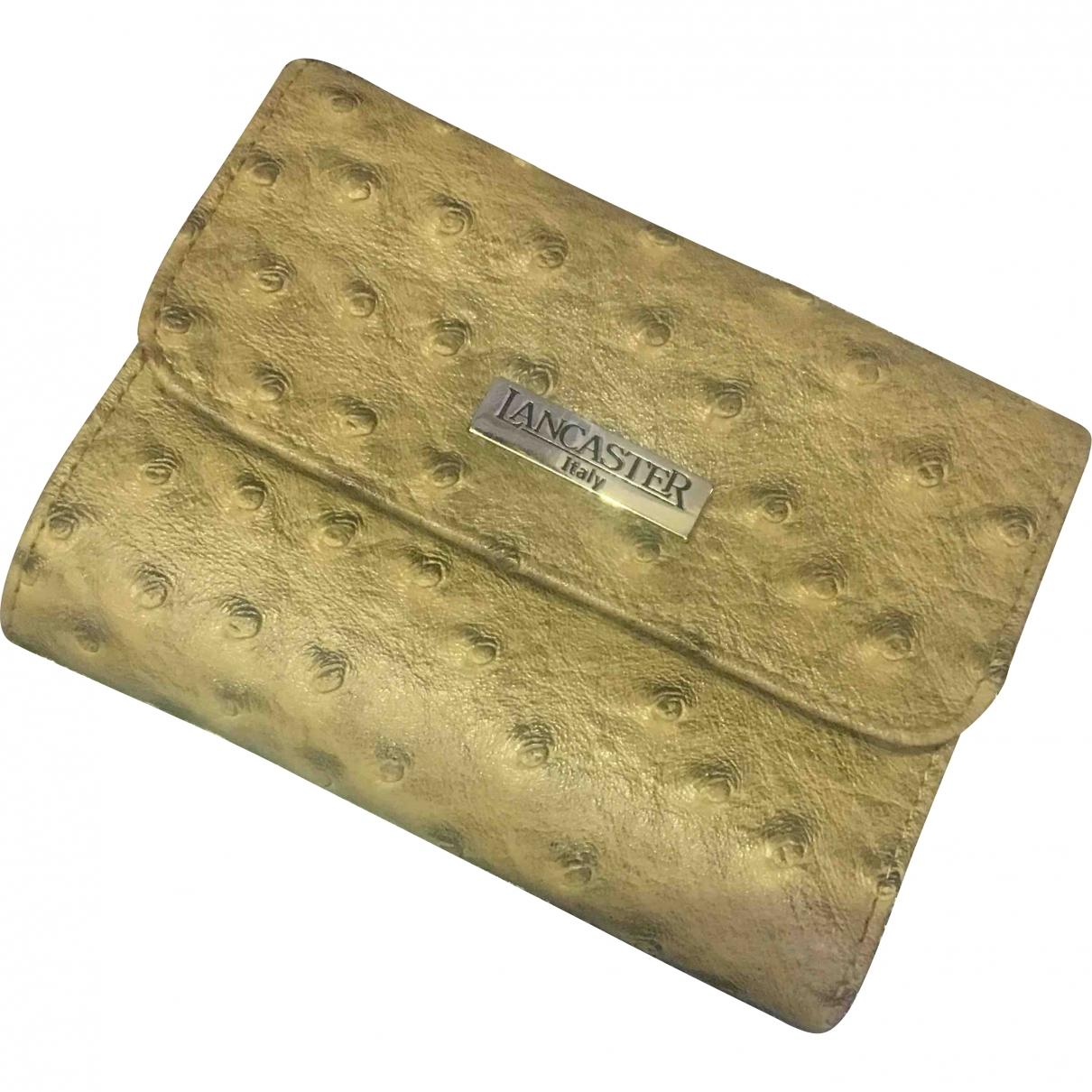 Lancaster \N Beige Leather Purses, wallet & cases for Women \N