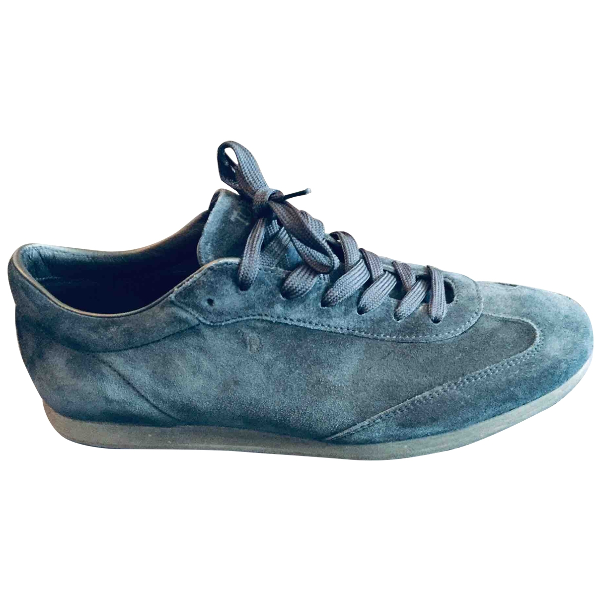 Tod's \N Navy Suede Trainers for Men 42 EU