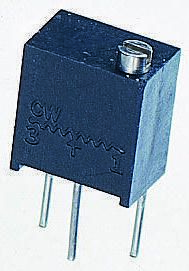 Vishay 2kΩ, Through Hole Trimmer Potentiometer 0.25W Top Adjust , T63