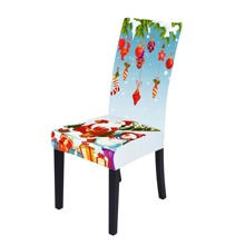 Santa Claus Print Stretchy Chair Cover
