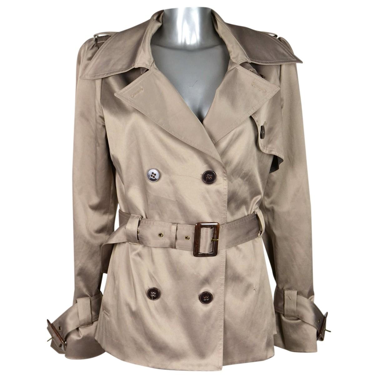 Gestuz N Beige Trench coat for Women 44 IT