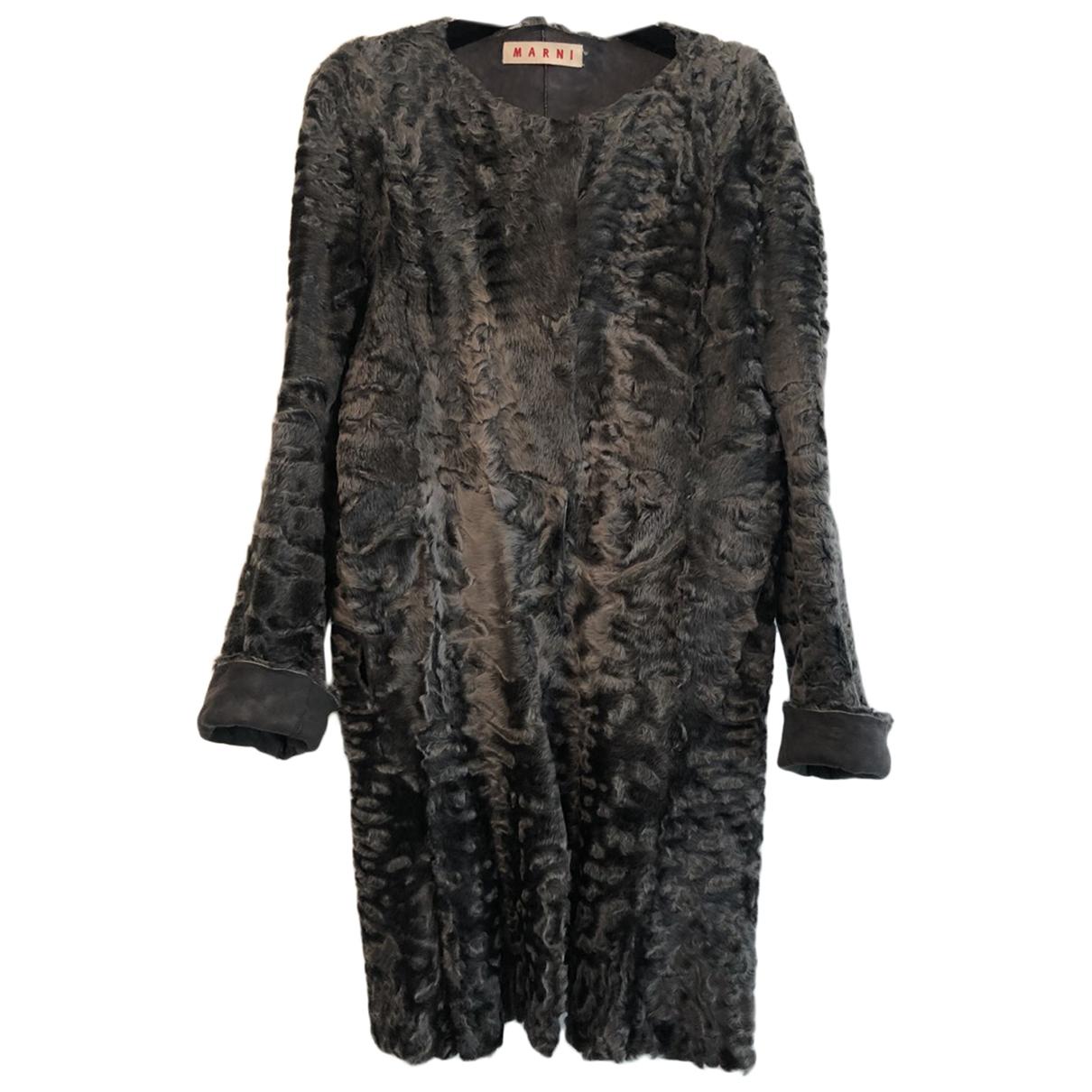 Marni \N Grey Astrakhan coat for Women 42 IT