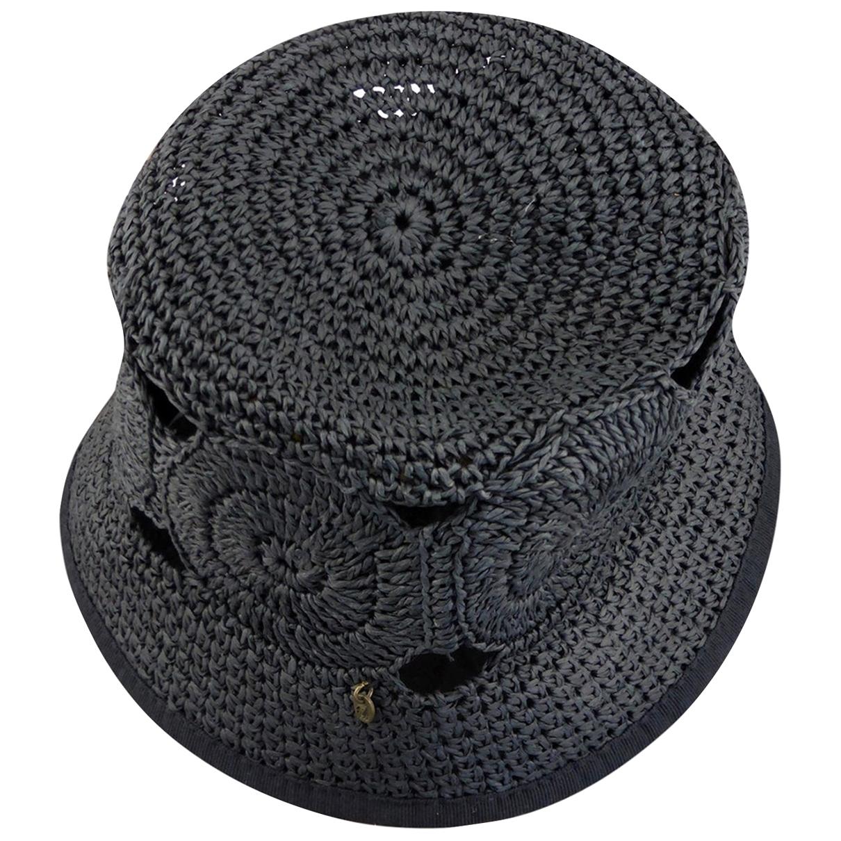 Borsalino - Chapeau   pour femme en paille - noir