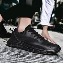Zapatillas deportivas con malla de hombres con cordon delantero