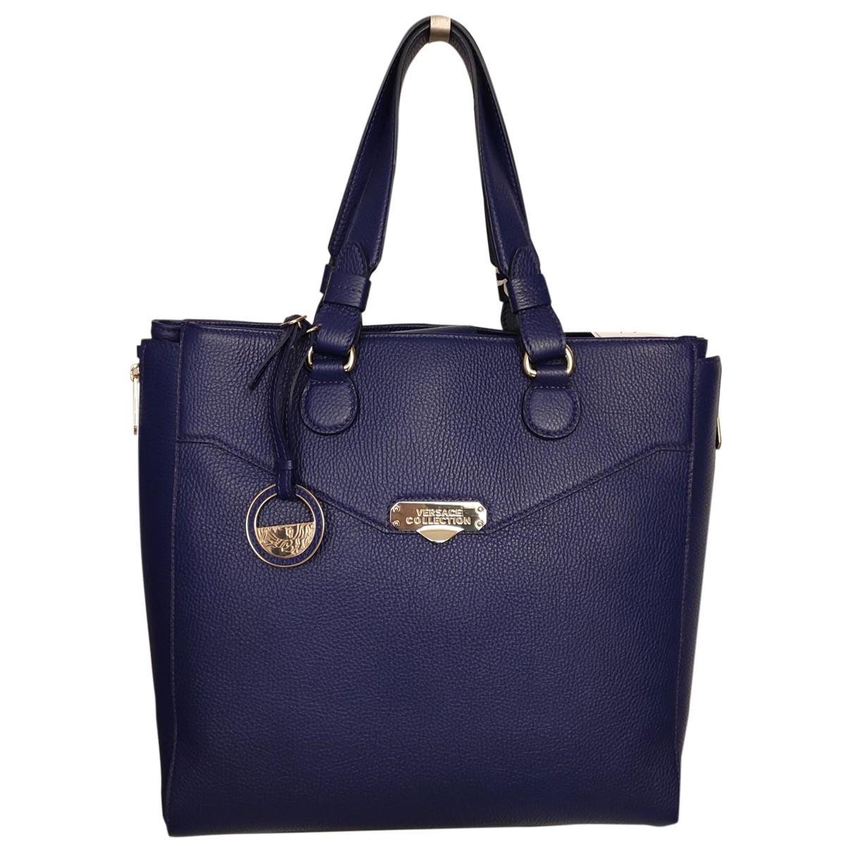 Versace \N Handtasche in  Blau Leder