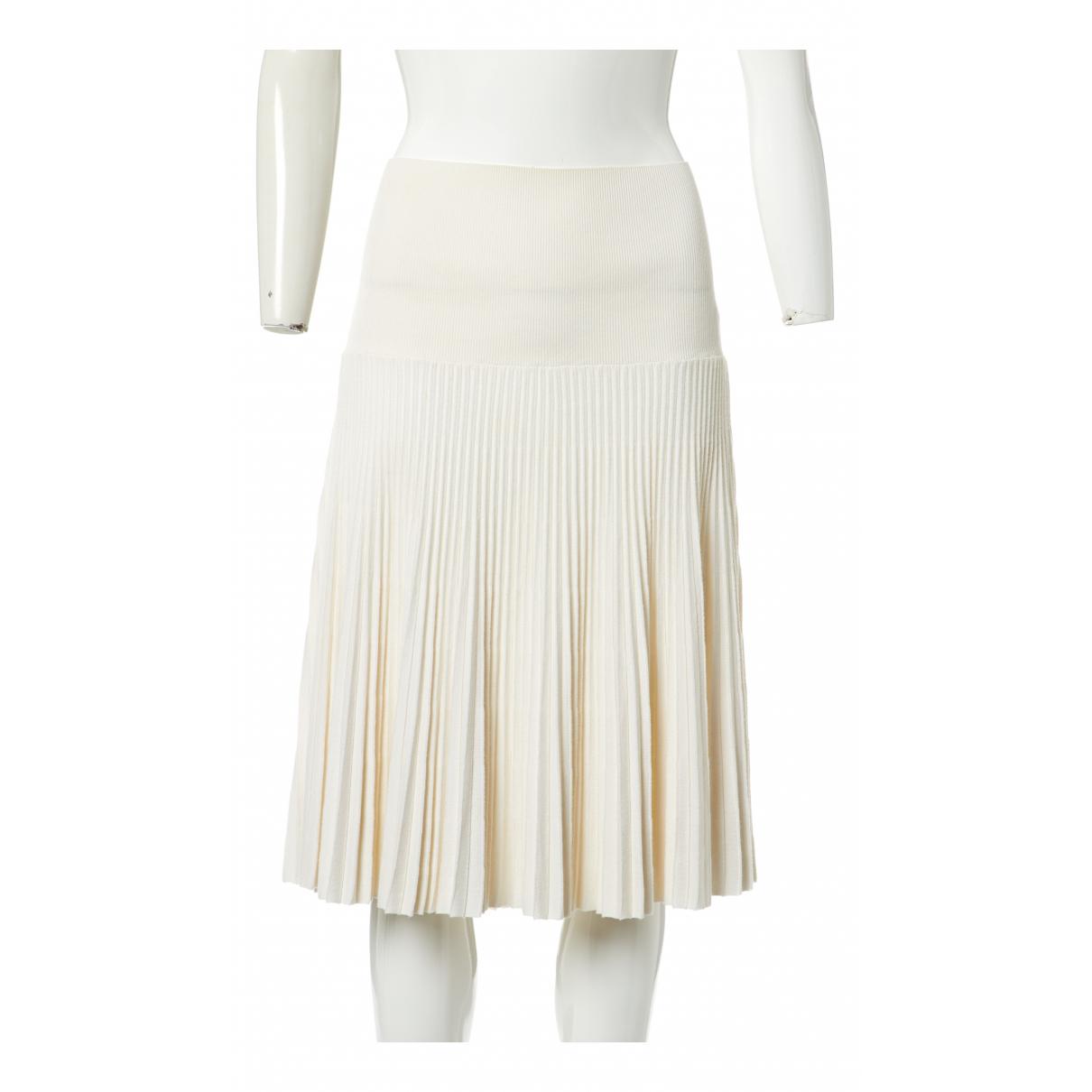 Hermes - Jupe   pour femme en coton - ecru