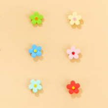 3pairs Floral Design Stud Earrings