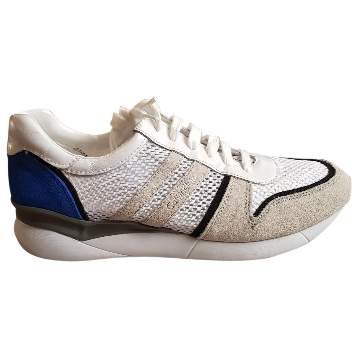 Calvin Klein \N Sneakers in  Weiss Leder