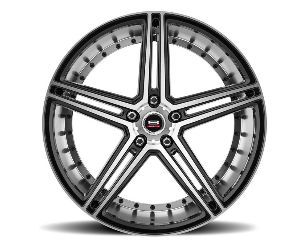 Spec-1 SPM-77 Wheel Monospec Series 20x9 Blank 15mm Gloss Black Machined