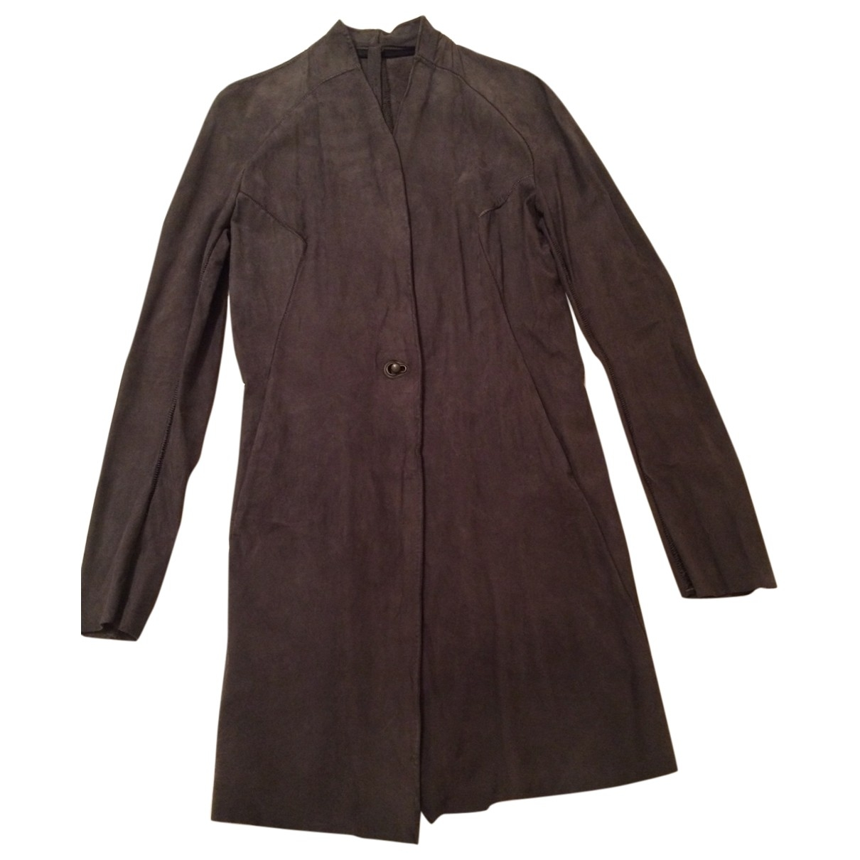Isaac Sellam \N Anthracite Suede jacket for Women 38 FR