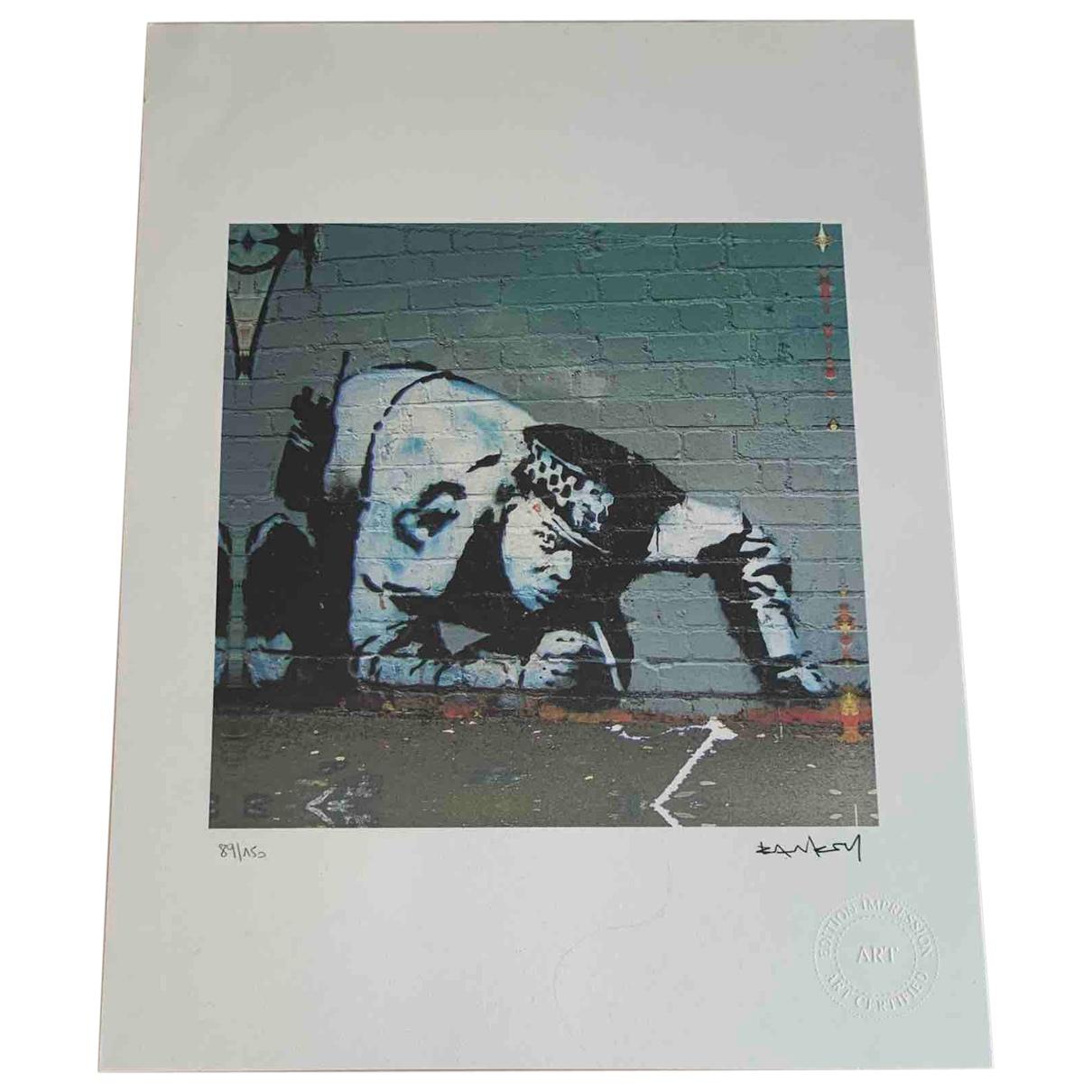 Banksy - Art   pour lifestyle en coton - blanc