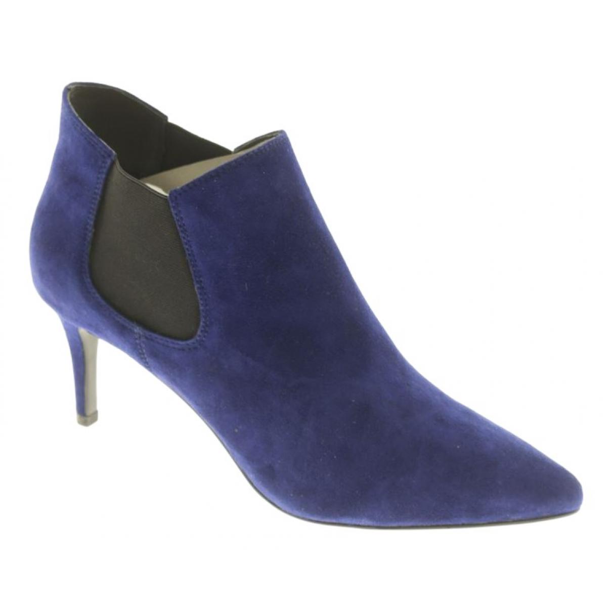 Lola Cruz \N Blue Fur Ankle boots for Women 39 EU