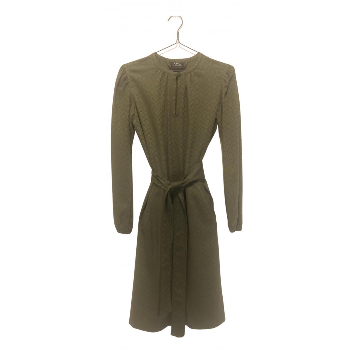 Apc - Robe   pour femme - vert