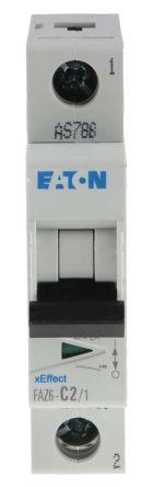 Eaton xEffect 2 A MCB Mini Circuit Breaker, 1P Curve C