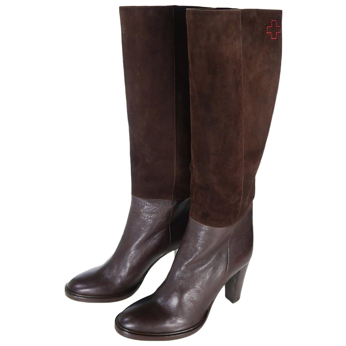 A.f.vandevorst - Bottes   pour femme en cuir - marron