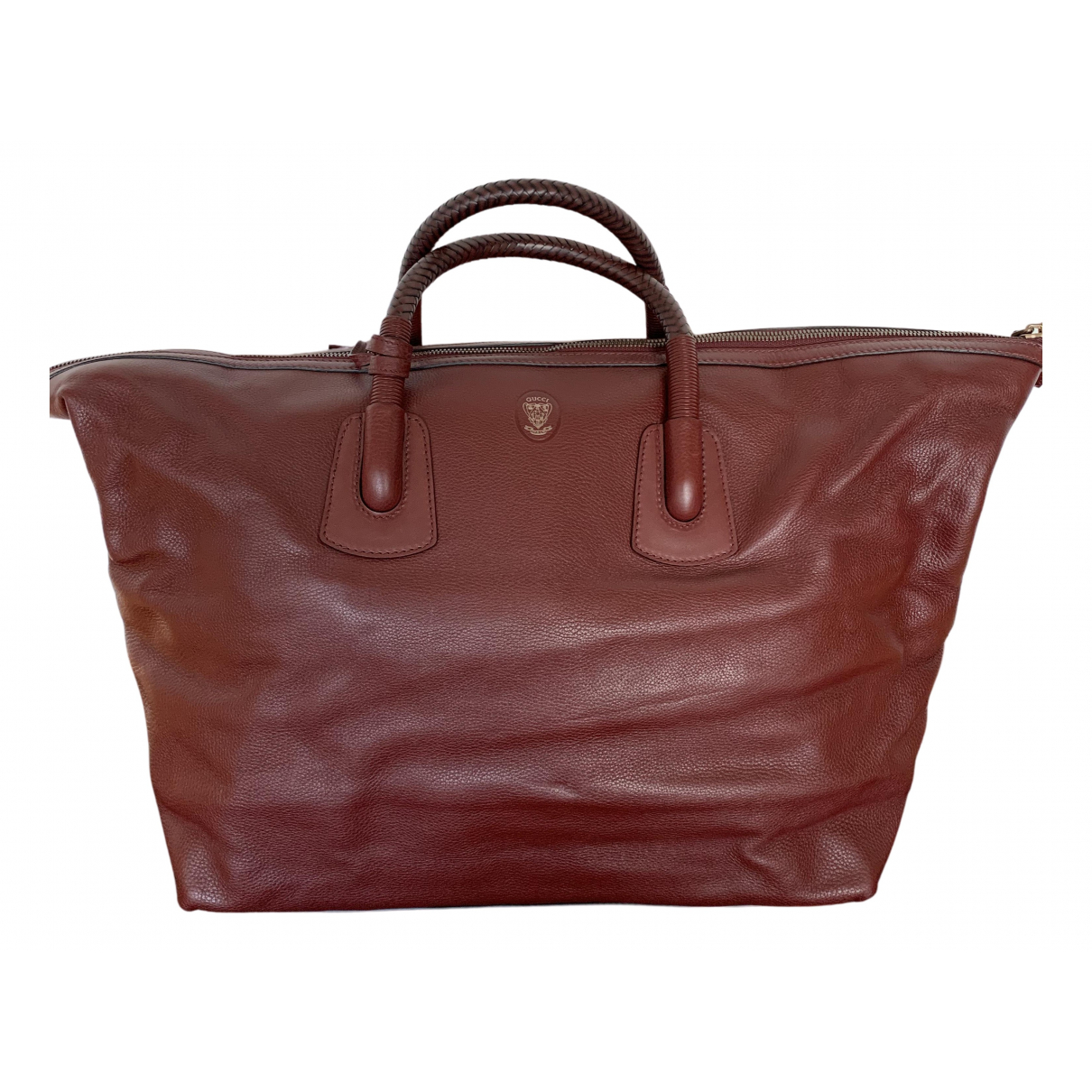 Gucci N Burgundy Leather bag for Men N