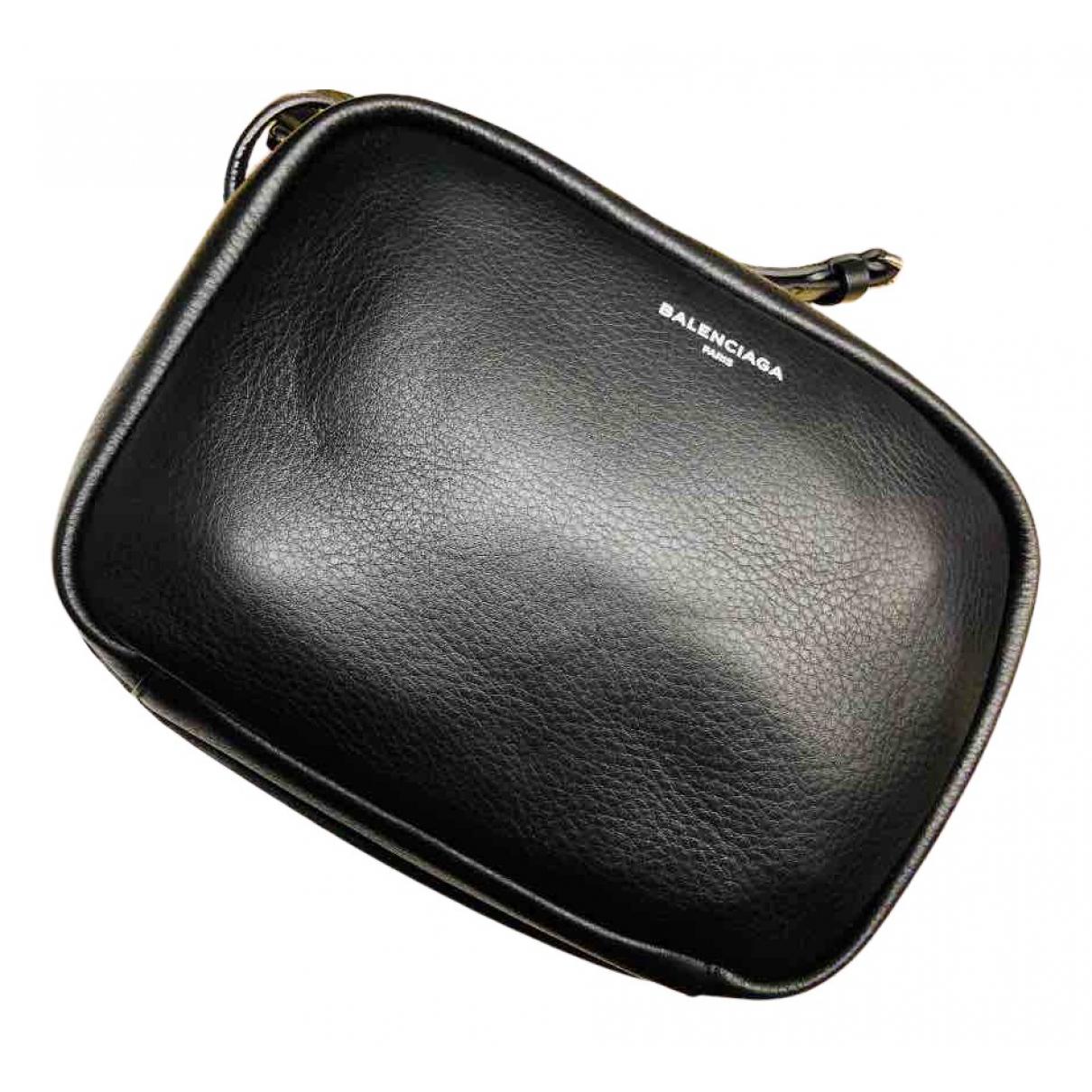 Balenciaga Everyday Handtasche in  Schwarz Leder