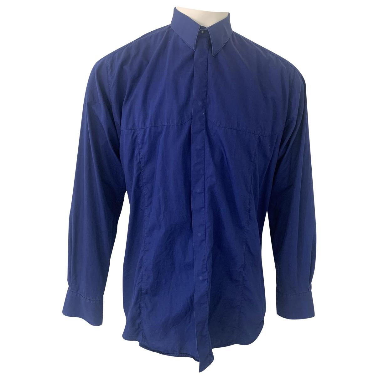 Thierry Mugler \N Hemden in  Blau Baumwolle