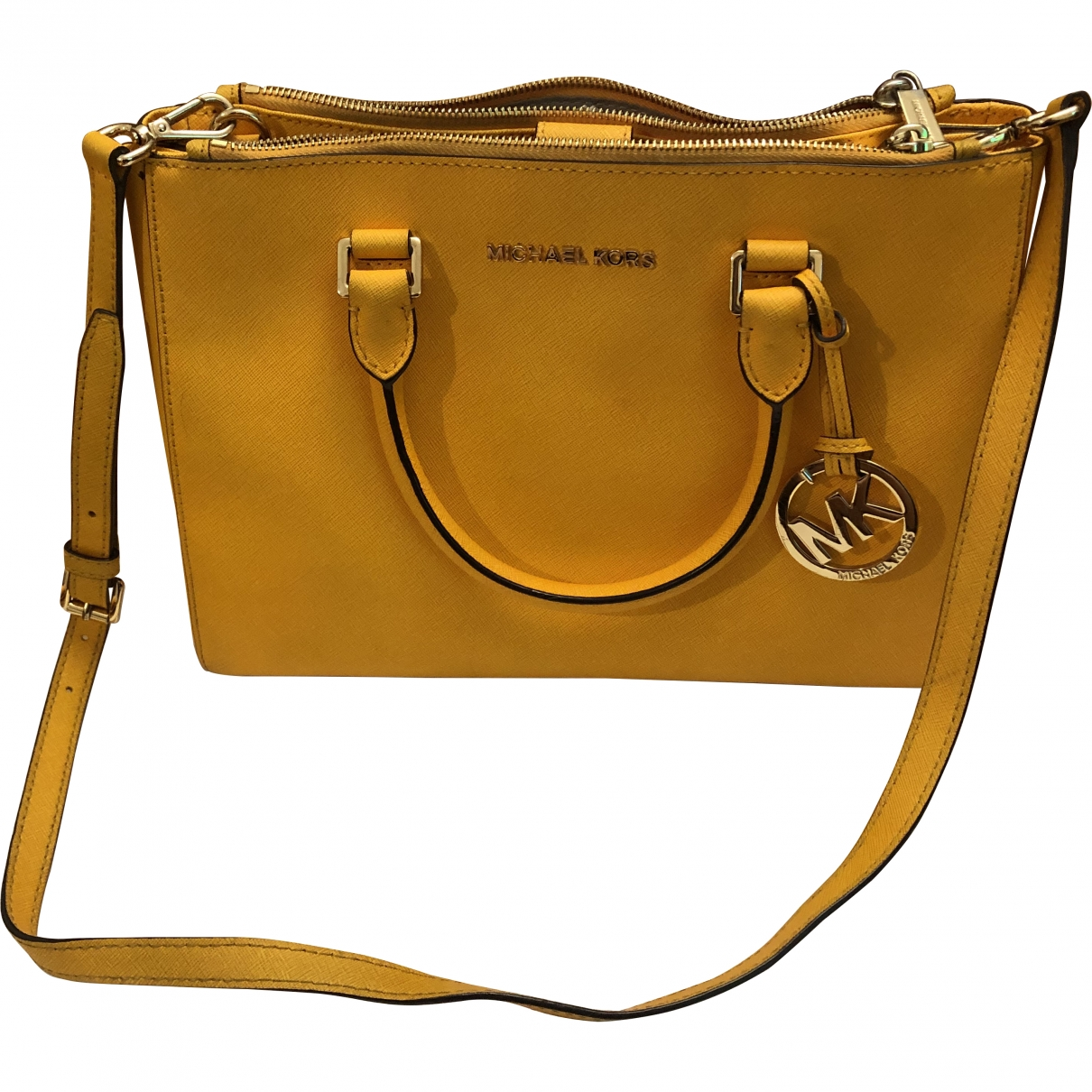 Michael Kors Savannah Yellow Leather handbag for Women \N
