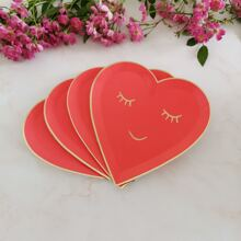 8pcs Heart Shaped Disposable Plate