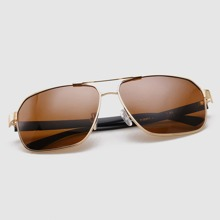 Men Flat Top Aviator Sunglasses