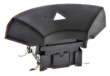 MEC IP67 Black Tactile Switch, Single Pole Single Throw (SPST) 50 mA @ 24 V dc