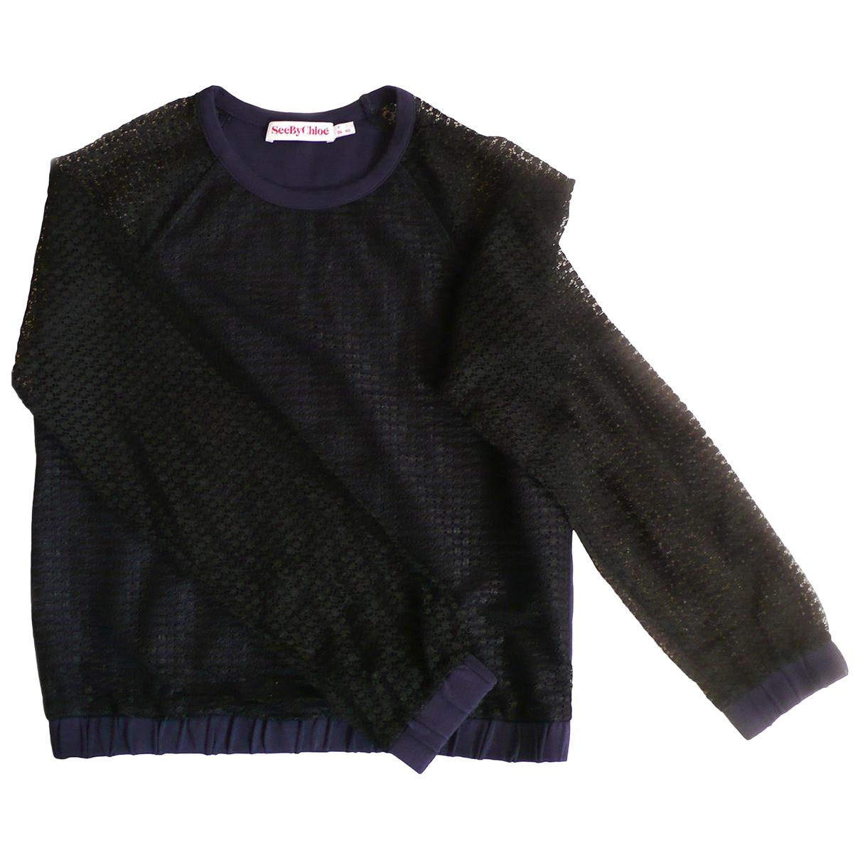 See By Chloe - Pull   pour femme en coton - bleu