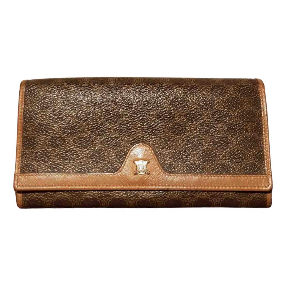 Celine \N Portemonnaie in  Braun Leder