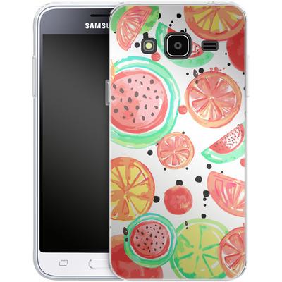 Samsung Galaxy J3 (2016) Silikon Handyhuelle - Fruit Crush von Mukta Lata Barua