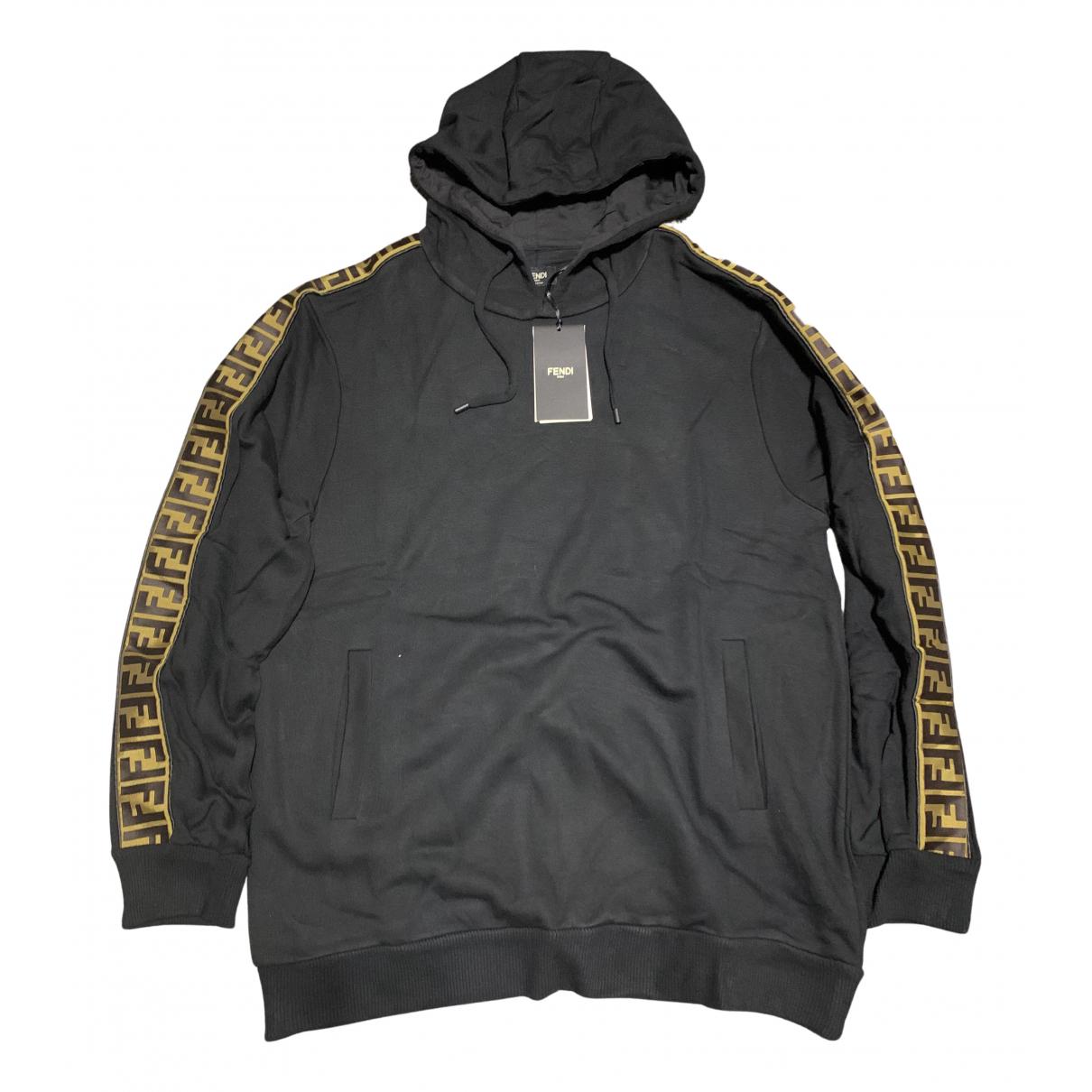 Fendi \N Pullover.Westen.Sweatshirts  in  Schwarz Baumwolle