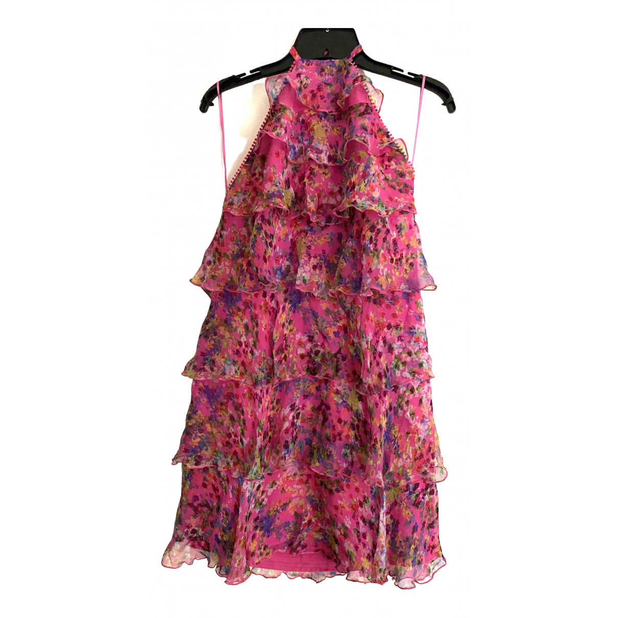 Saloni \N Kleid in  Rosa Seide