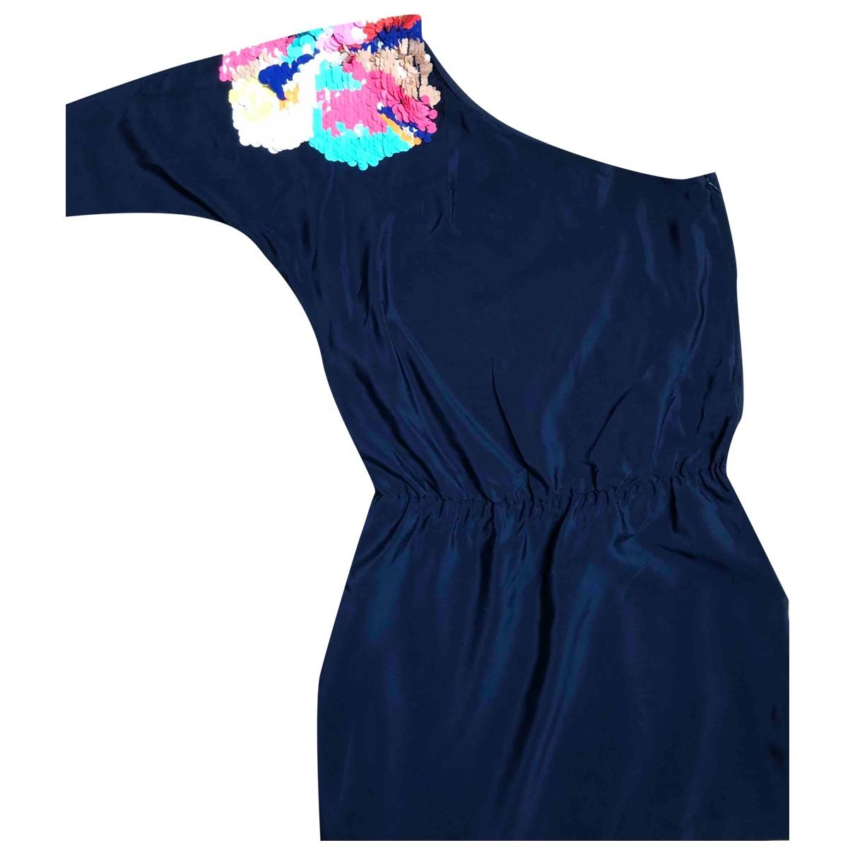 Tibi \N Blue Glitter dress for Women 8 US