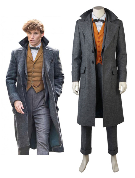Milanoo Fantastic Beasts And Where To Find Them Newt Scamander Halloween Cosplay Costume