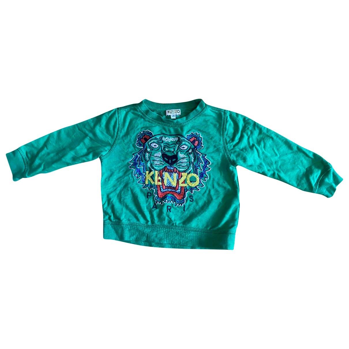 Kenzo - Pull   pour enfant en coton - vert