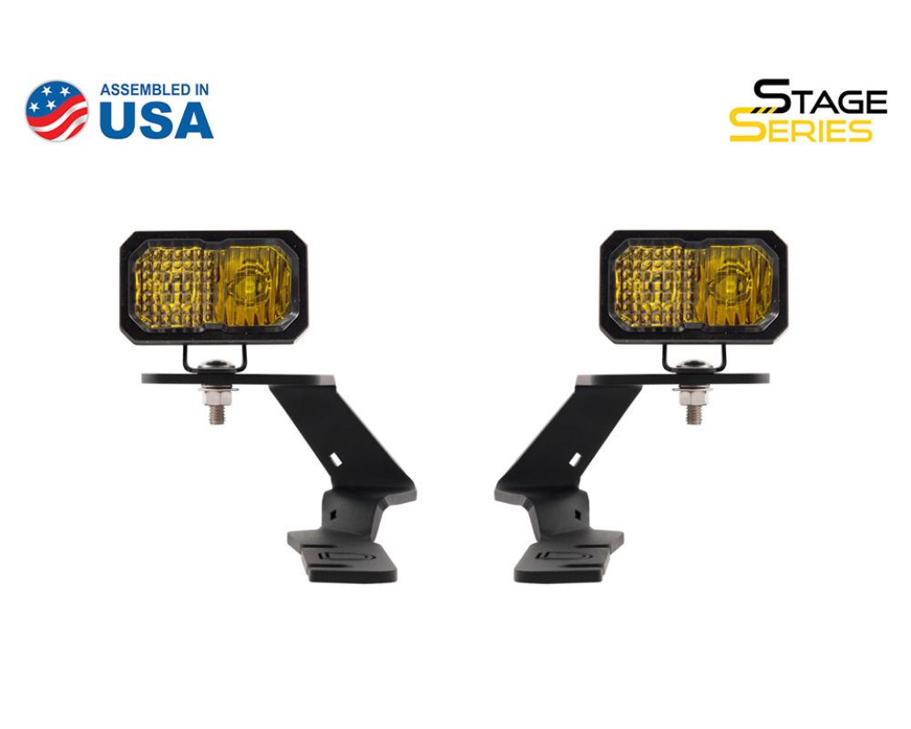 Diode Dynamics DD6590 Stage Series 2 Inch LED Ditch Light Kit for 2019-2020 Ford Ranger, Pro Yellow Combo