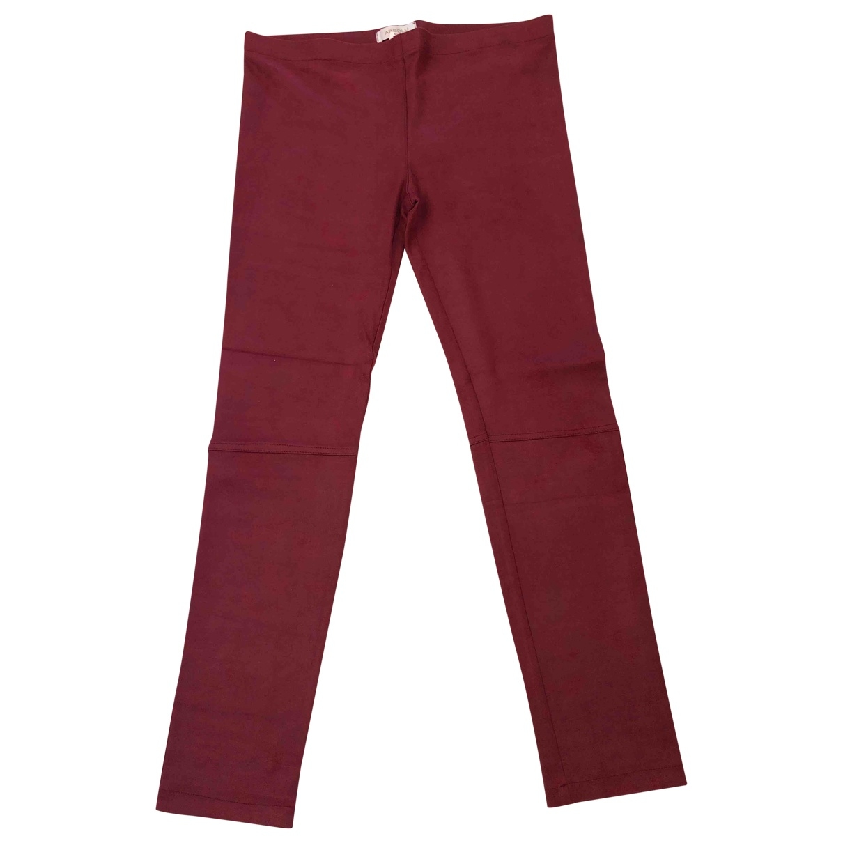 Absolu \N Burgundy Trousers for Women 42 FR