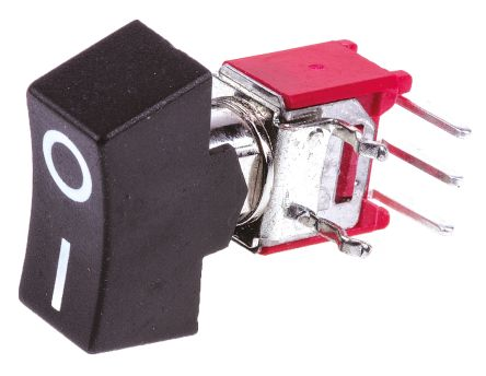 RS PRO Single Pole Double Throw (SPDT), On-(On) Rocker Switch Panel Mount