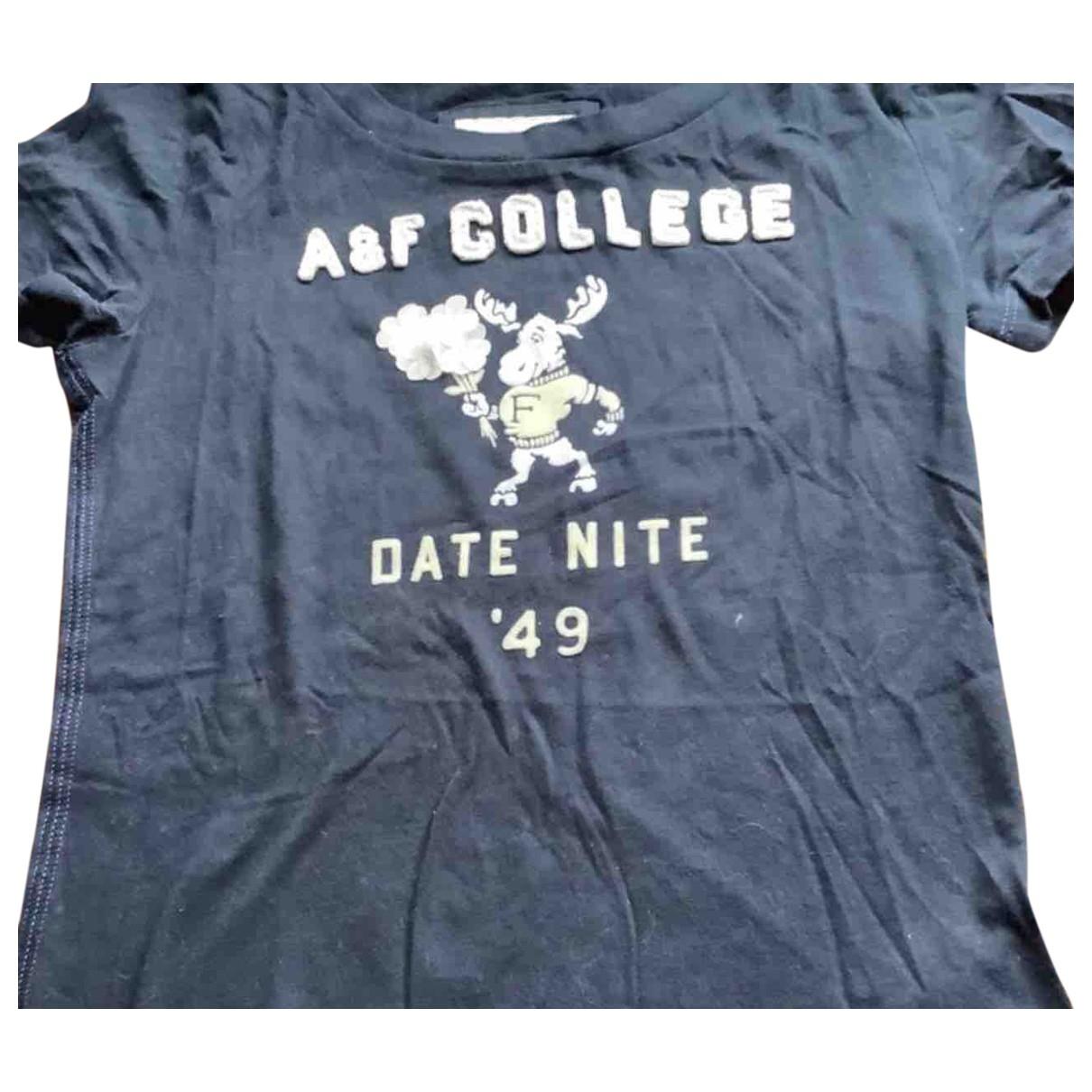 Abercrombie & Fitch - Top   pour femme en coton - noir