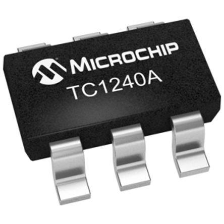Microchip TC1240AECHTR, Charge Pump Voltage Doubler 50mA 125 kHz 6-Pin, SOT-23 (10)