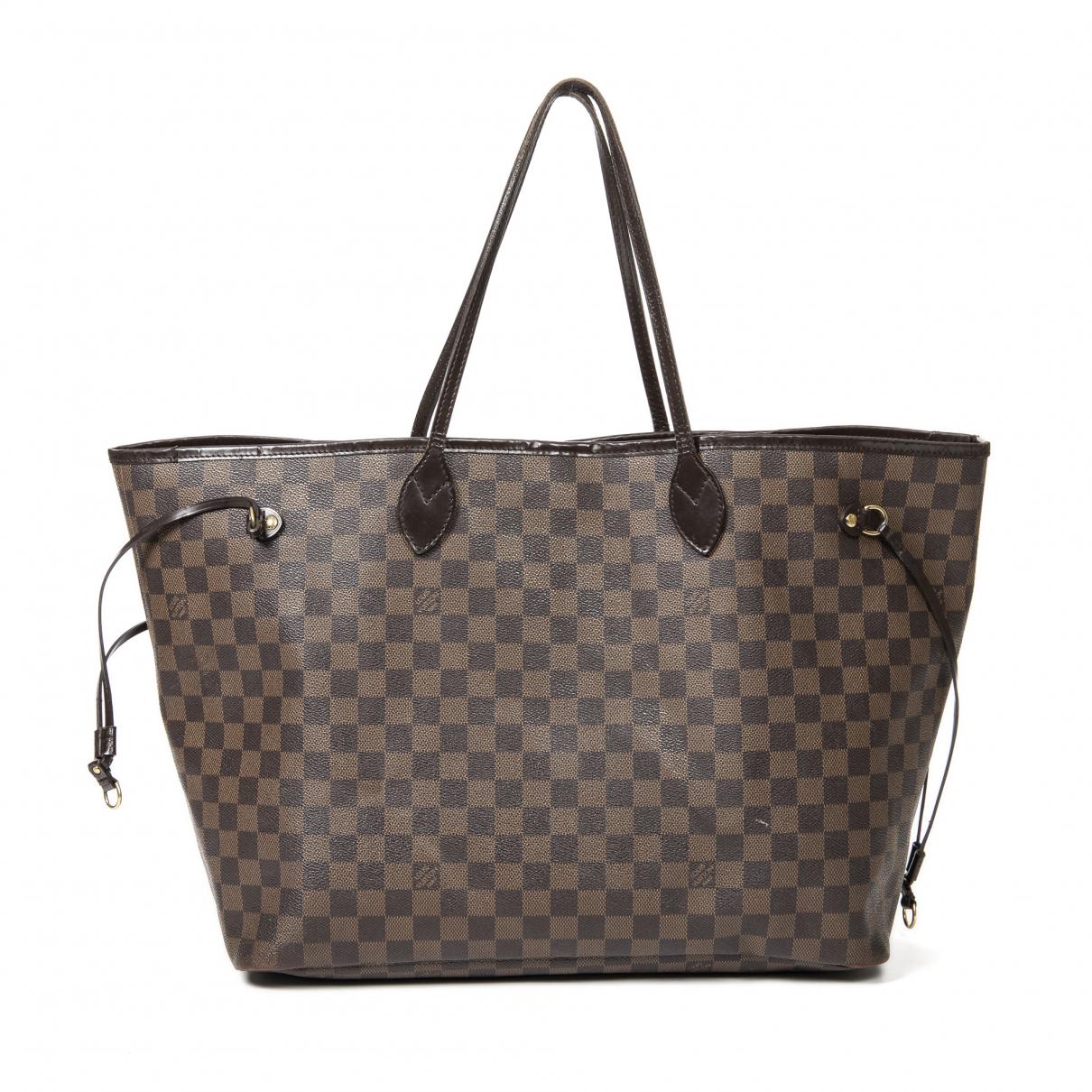 Louis Vuitton Neverfull Handtasche in  Braun Leder
