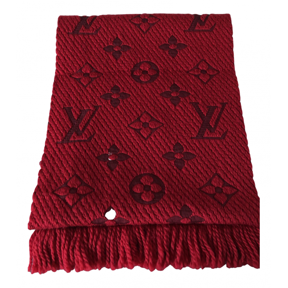 Louis Vuitton Logomania Red Wool scarf for Women N
