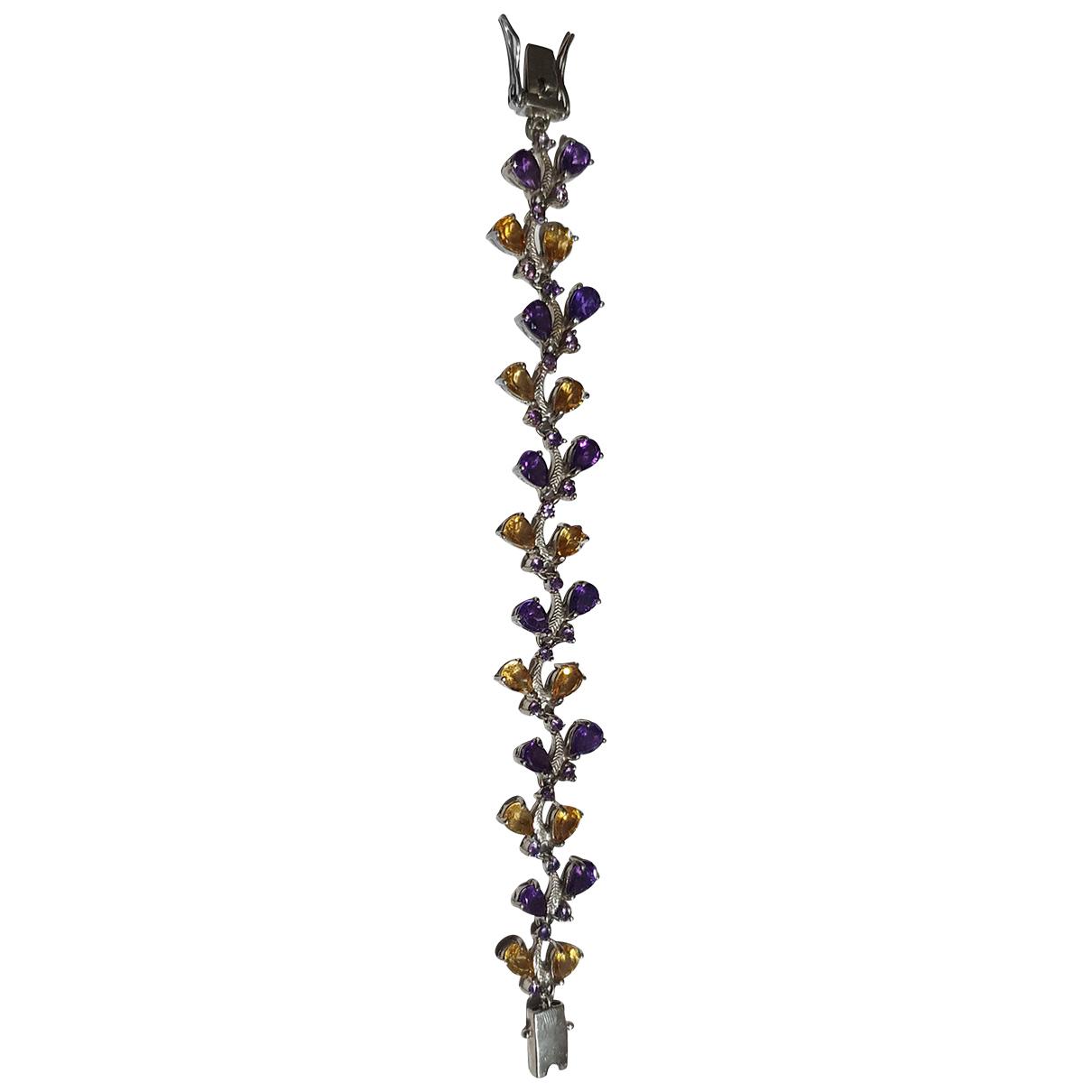 - Bracelet Amethyste pour femme en argent - multicolore
