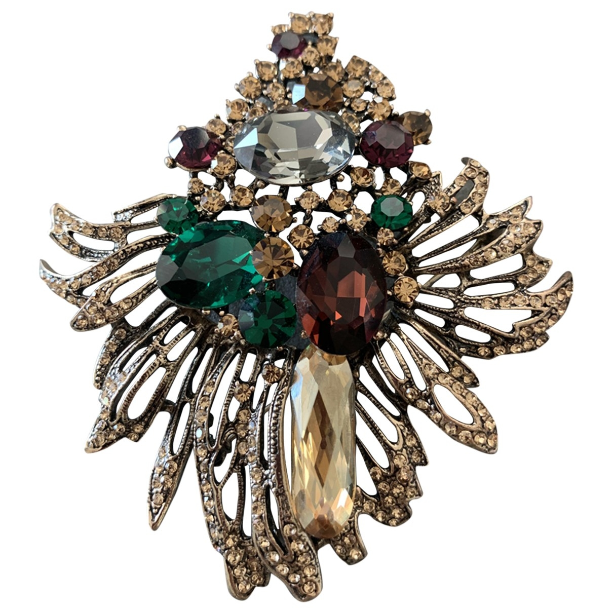 Non Signé / Unsigned \N Multicolour Steel Pins & brooches for Women \N