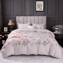 Set de ropa de cama con estampado floral sin relleno