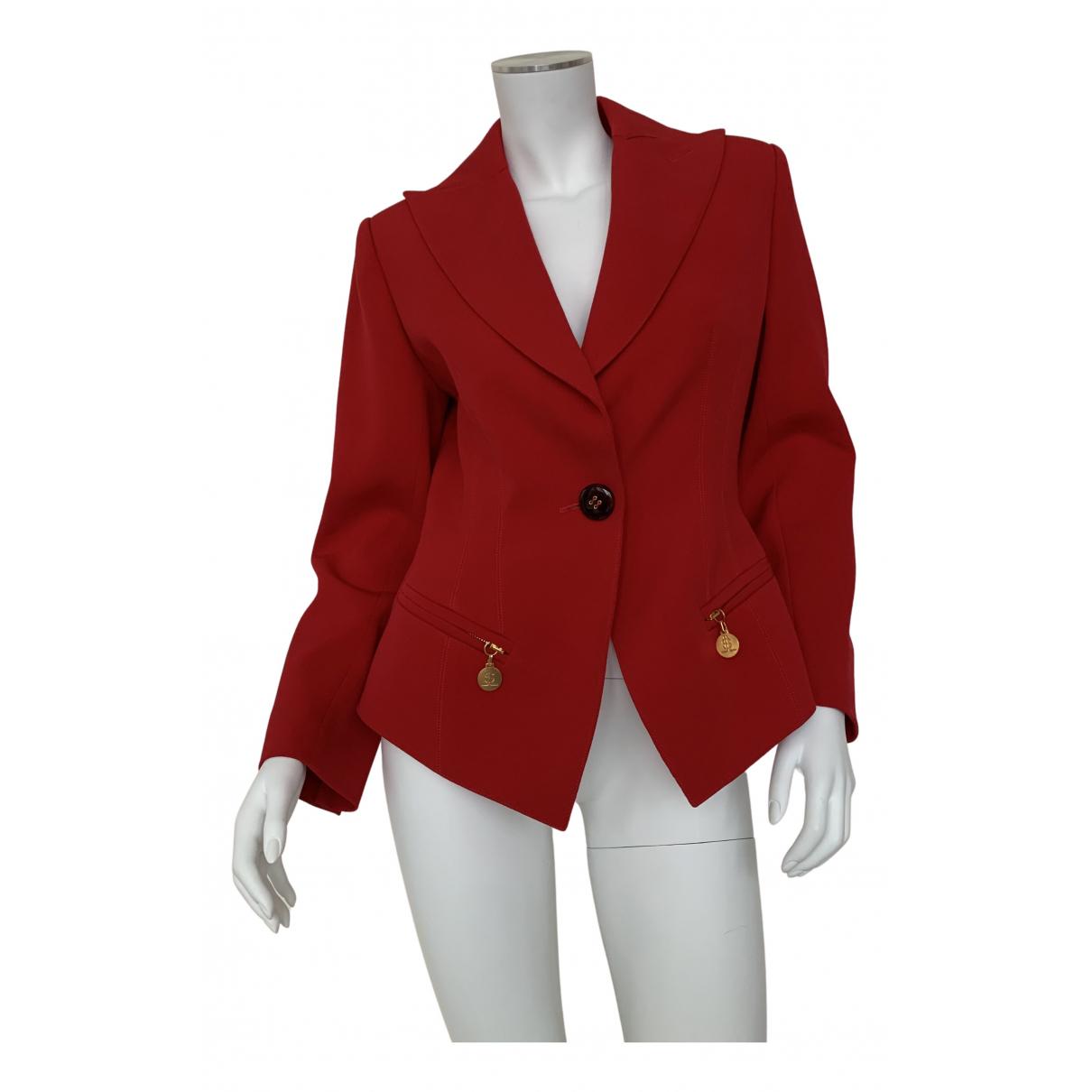 Jean-louis Scherrer - Veste   pour femme en laine - rouge