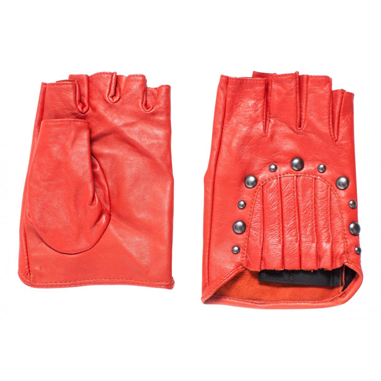 Karl Lagerfeld \N Handschuhe in  Rot Leder