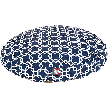 Majestic Pet Links Round Pet Bed, One Size , Blue