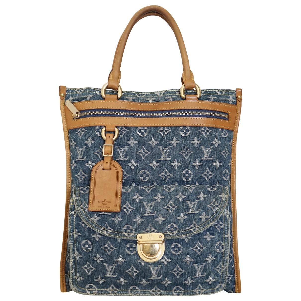Louis Vuitton Plat Blue Denim - Jeans handbag for Women \N